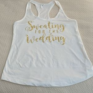 Sweating for the wedding top, size L